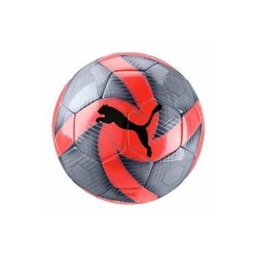 Bola De Futebol Campo Puma Future Flare - Vermelho E Cinza