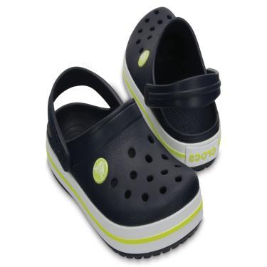 Sandália Crocs Crocband Clog Kids Azul/Verde.  menino