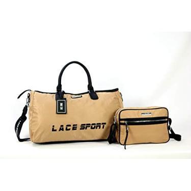 Bolsa Esportiva Tipo Mala Academia e Viajem Premium (Bege)
