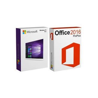 Windows 10 Pro + Office 2016 Professional Vitalício + Nota Fiscal - Esd 32/64 Bits