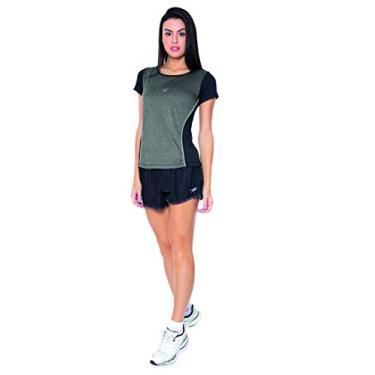 Speedo Match , Camiseta de Manga Curta, Mulheres, Preto, G