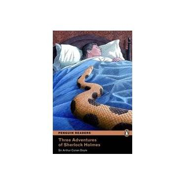 Three Adventures Of Sherlock Holmes - Level 4 - Pack CD MP3 - Penguin Readers - Doyle, Sir Arthur Conan - 9781408294468