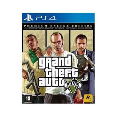 Jogo GTA V Premium Edition - Ps4 Mídia Física