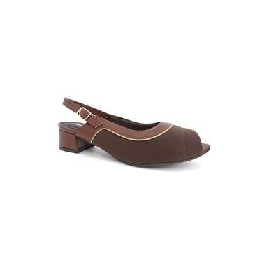 Sapato Chanel Conforto 114014 - Piccadilly (20) - Chocolate