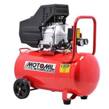 Moto Compressor De Ar 8,8 Pés 50 Litros 2,5 Hp Com Óleo Mam-10/50 Motomil