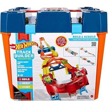 Imagem de Pista Hot Wheels Track And Builder Mega Caixa - Mattel