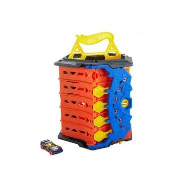 Imagem de Brinquedo Novo Hot Wheels Pista Corrida Extrema Portátil Action Com Alça e Carrinho em Escala 1/64 Azul GYX11 Mattel Plástico Colorida