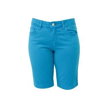 Bermuda Jeans Pau a Pique Turquesa