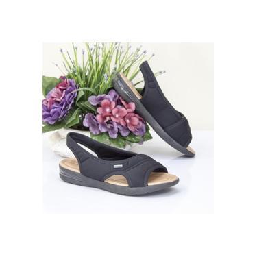 Sandalia Comfort Flex Preto/Preto Feminino 18-66405