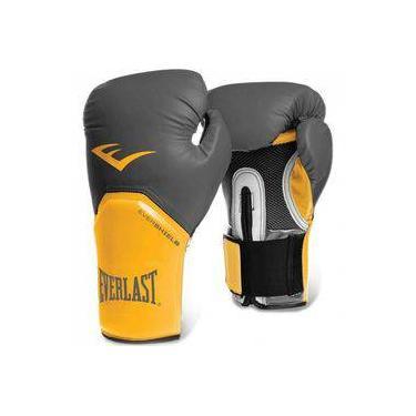 Luva Boxe Everlast Pro Style Elite Training 16 Oz Amarelo Com Cinza e7bf46b07cfab