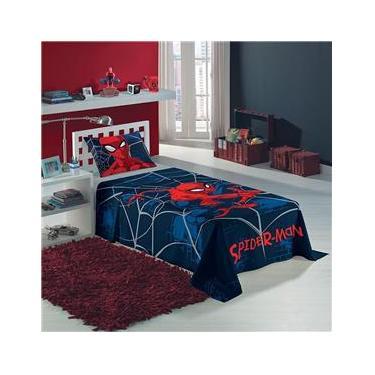 Jogo de Cama Solteiro Spider Man 2 Peças Lepper