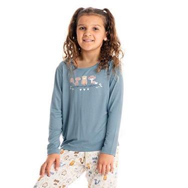 Pijama Infantil Longo Estampado Friends Bege/12