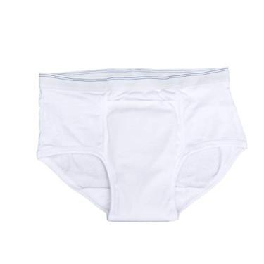 Imagem de EXCEART Cuecas de Incontinência Para Adultos Fraldas de Algodão Cuecas Conforto Absorvente Vazamento de Proteção Durante A Noite Para Os Homens Idosos (Branco L)