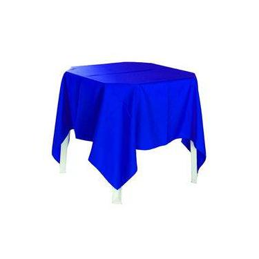 Imagem de Toalha de mesa quadrada  oxford para festa buffet azul