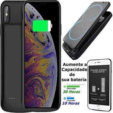 Capa Case Iphone Xs X 10 Tela 5.8 Bateria Extra Recarregável 4.100 Mah