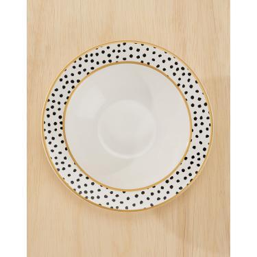 Imagem de conjunto c/ 6 pratos fundo polka dots