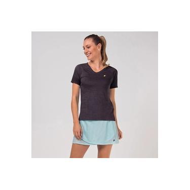 Camiseta Fila Match III Feminina - Mescla Preto