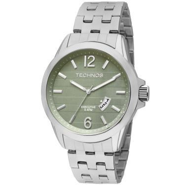 3d5a9d3577f2d Relógio de Pulso Masculino Technos Aço Cia Dos Relógios