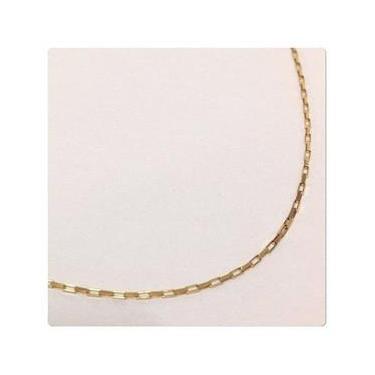Cordão Corrente Masculino Ouro 80cm Ouro 18k750 Maciço Cadeado