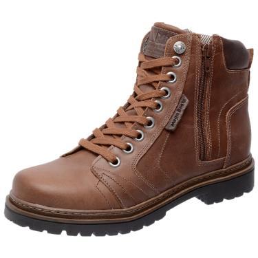 Bota Coturno em Couro Mega Boots 6015 Castanho  masculino