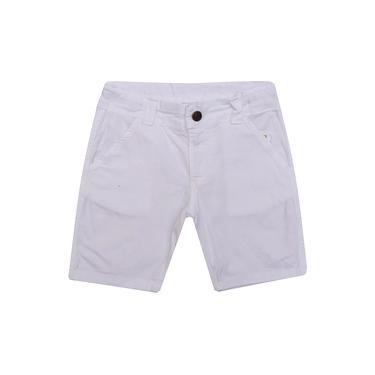 Bermuda Infantil Masculino Sarja Branco