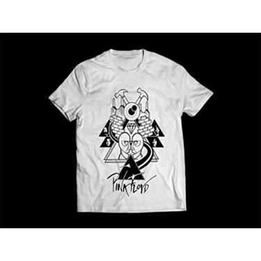 Camiseta/Camisa Masculina Pink Floyd 2 Tamanho:M;Cor:Branco