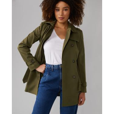 trench coat london breeze Feminino AMARO VERDE MILITAR 36