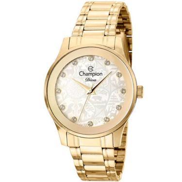 1953c92493a Relógio Feminino Champion CN27410H - Dourado