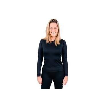 3680a6e55 Blusa Segunda Pele Térmica Feminina Frio Extremo Anti Odor UV Profissional