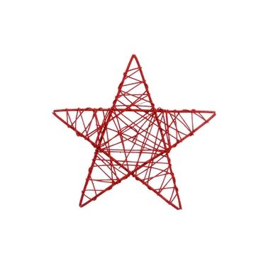 Estrela Rattan Decoração Natal 30Cm Vermelha