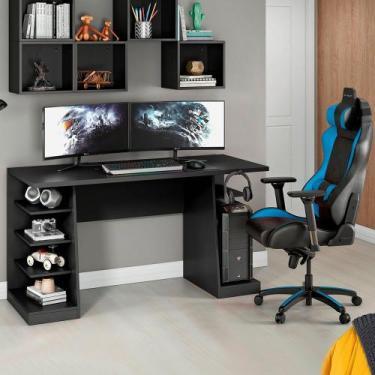 Mesa para Computador / Escrivaninha Gamer XP Preto 135x60cm NT2020 com