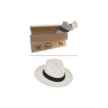 Chapéu Panamá Tradicional Semi Fino Branco