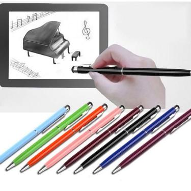 Imagem de Caneta stylus touch screen 2 em 1, 5 unidades + caneta esferográfica para ipad iphone samsung tablet