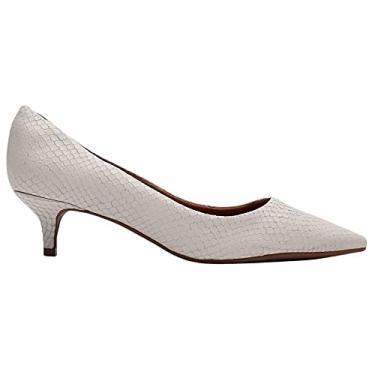 Imagem de Sapato Scarpin Bottero Salto Baixo Bico Fino Cor:Branco;Tamanho:35;Gênero:Feminino