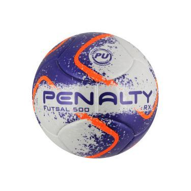 Bola de Futsal Penalty RX 500 Fusion VIII - BRANCO ROXO Penalty 1a020cc4de231