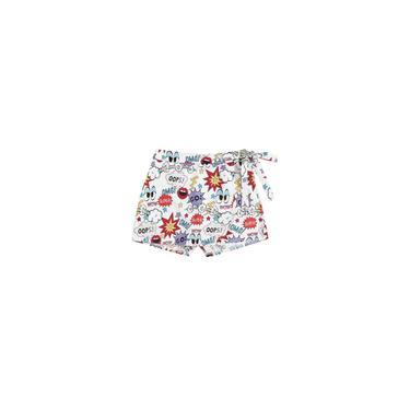 Calças curtas femininas com estampa de flores e grafite elegante e elegante na cintura
