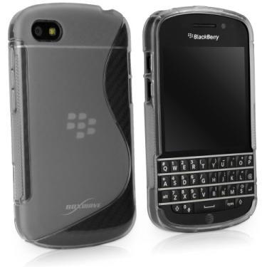 Capa para BlackBerry Q10, BoxWave [DuoSuit] Capa de TPU ultra durável com cantos para absorção de choque para BlackBerry Q10 - Fosco transparente
