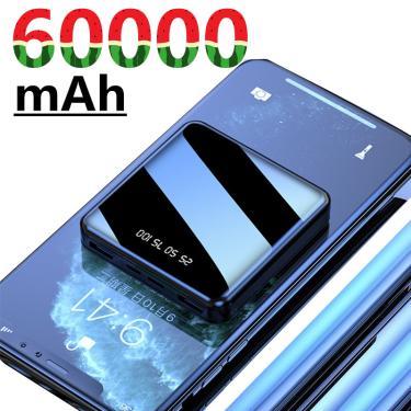 60000mah mini banco de potência para iphone xiaomi mi portátil usb carregador rápido pequeno 10000