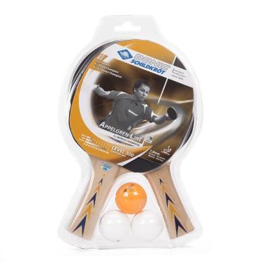 0125a3403 Kit Tênis de Mesa Donic Appelgren 300 com 02 Raquetes e 03 Bolas