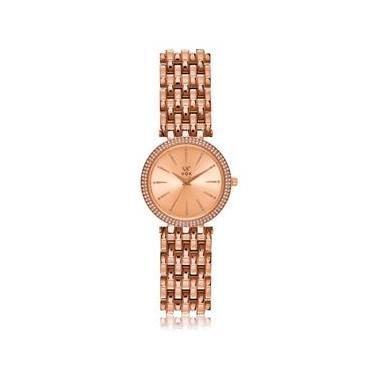 d1678ee5132 Relógio Feminino Vox Caixa Metal Dourado