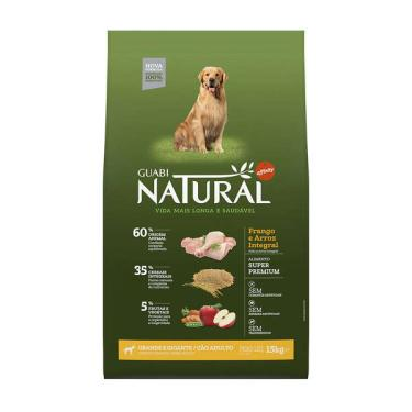 Ração Affinity Guabi Natural Frango e Arroz Integral para Cães Adultos Raças Grande e Gigante - 15 Kg