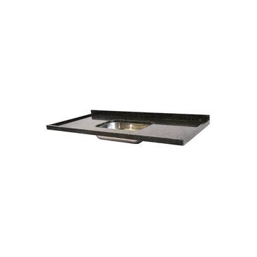 Pia de Granito para Cozinha Levorato Ubatuba – 200x55cm – Granito Verde Ubatuba