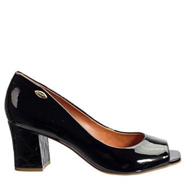 Sapato Peep Toe Feminino Luz da Lua Verniz