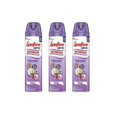 Lysoform Spray Lavanda kit com 3 unidades
