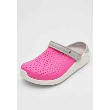 Sandália Crocs Infantil Literide Clog K Rosa/Cinza Crocs 205964-6QR menina