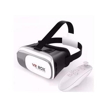 Óculos Realidade Virtual 3D VR Box + Controle - Bluetooth 2.0