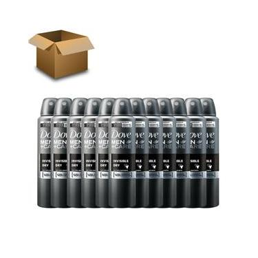 Imagem de Desodorante Antitranspirante Aerosol Dove MEN+CARE 12 Unidades Invisible Dry 150ml