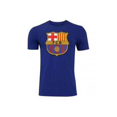 34a2c656a2 Camiseta Barcelona Evergreen Crew Nike - Masculina - AZUL ESCURO Nike