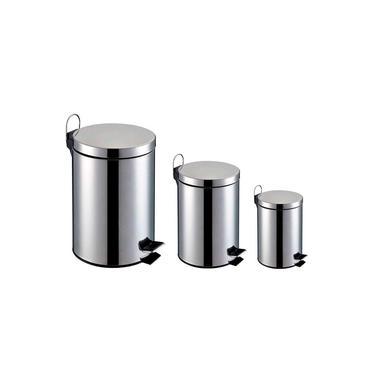 Kit 3 Lixeira Banheiro Aço Inox Cesto Removível 5 Litros