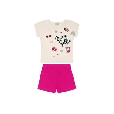 Conjunto Blusa com Shorts Rovitex Kids Bege